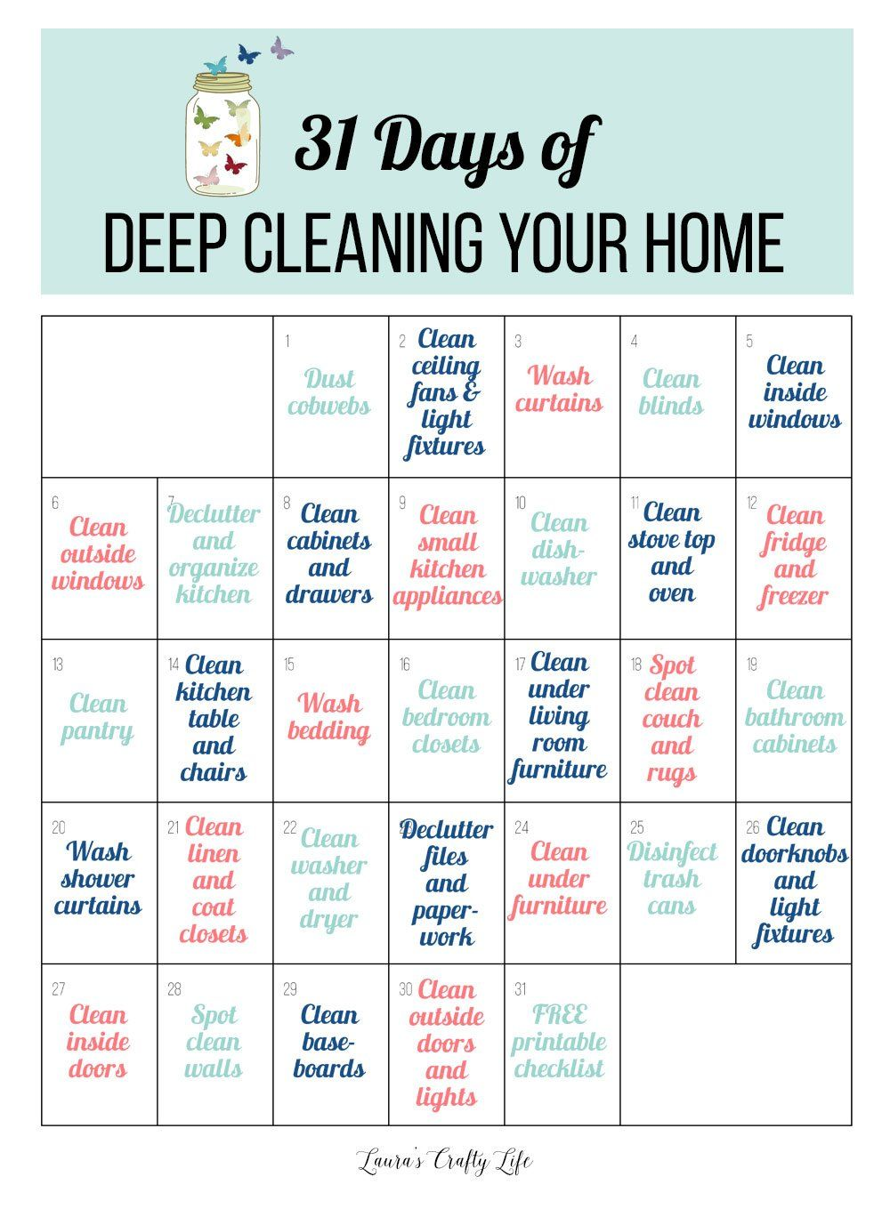 31 Days of Deep Cleaning Your Home – Laura's Crafty Life