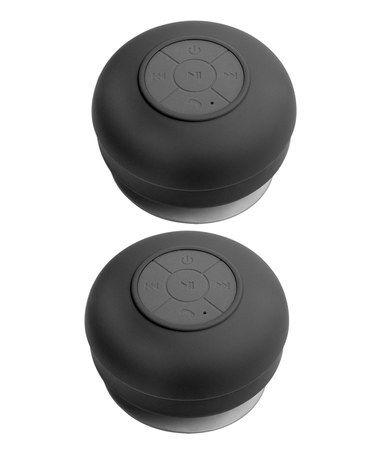 Another great find on #zulily! Black Bluetooth Shower Speaker - Set of Two #zulilyfinds