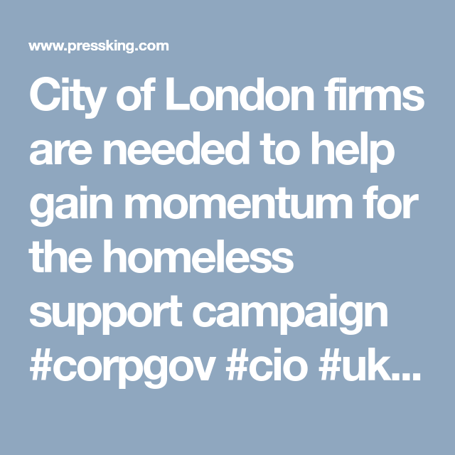 City of London firms are needed to help gain momentum for