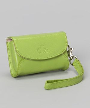 Love this Highland Green Campbell Leather Wristlet by Rowallan on #zulily!