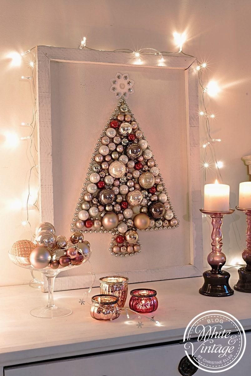 DIY-Weihnachtsdeko: Weihnachtsbaum aus Weihnachtskugeln