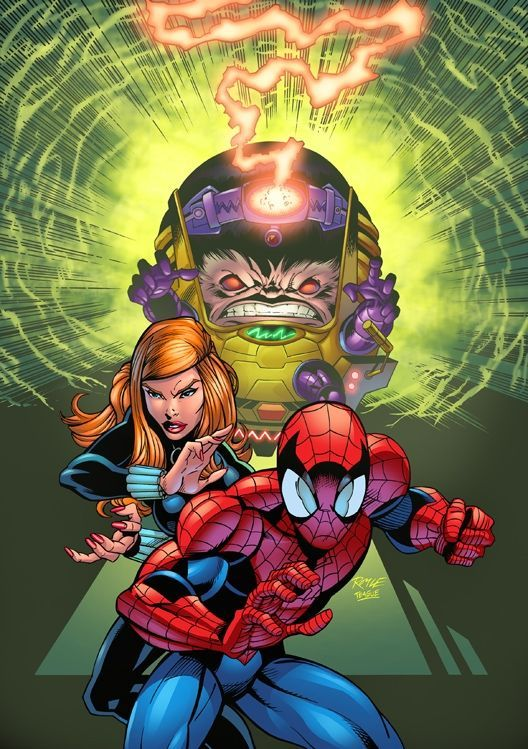 #Spiderman #Fan #Art. (Spiderman Vs Modok) By: John Royle.