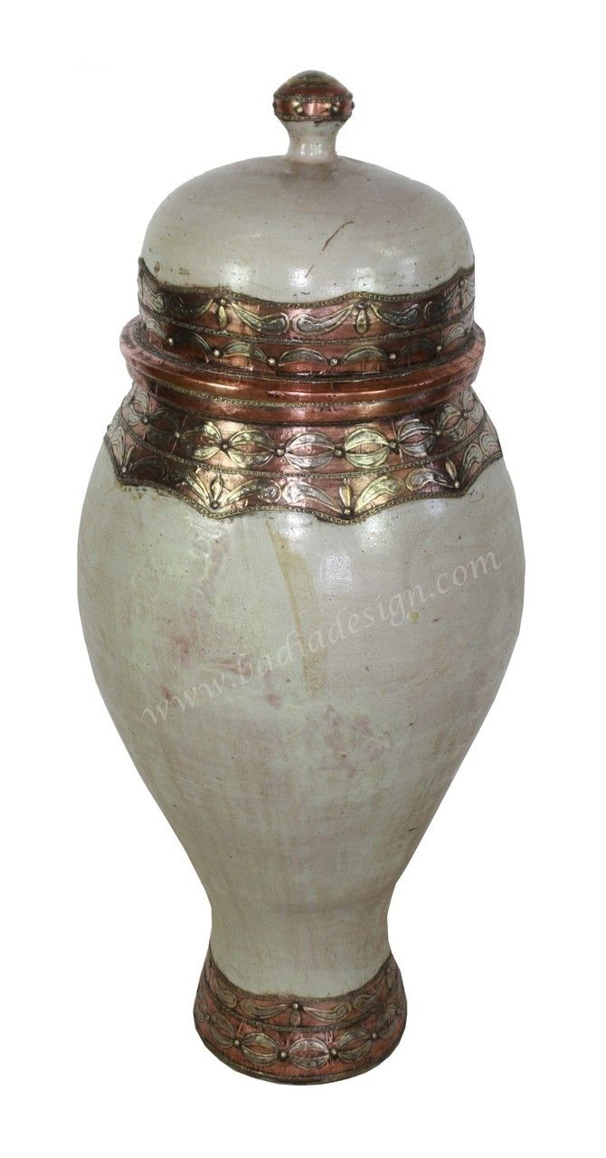 Hand painted metal and ceramic urn va073 painted metal urn badia design inc store hand painted metal and ceramic urn va073 000 reviewsmspy