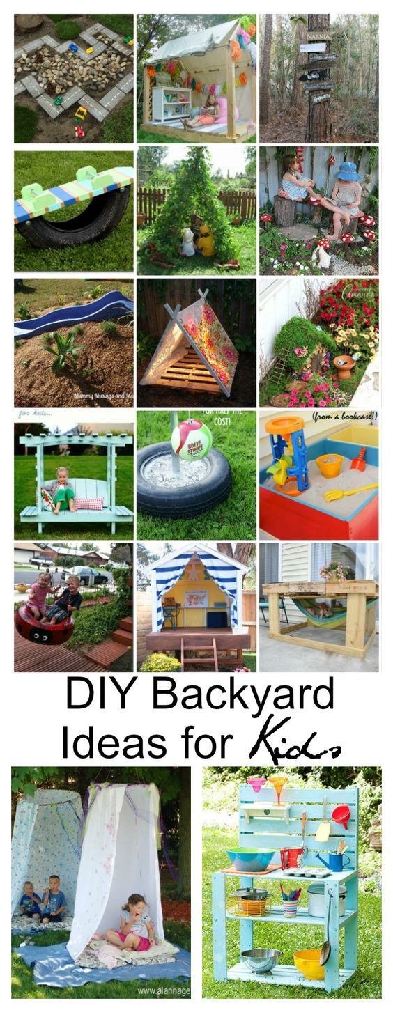 diy backyard ideas for kids bloggers best pinterest palettenm bel spielzeug drau en und. Black Bedroom Furniture Sets. Home Design Ideas