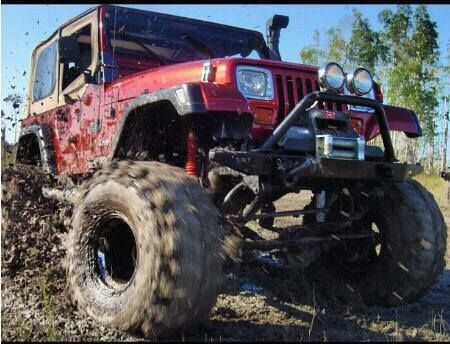 Muddy Jeep Yj With Winch Snorkel Kc Lights Yes Please