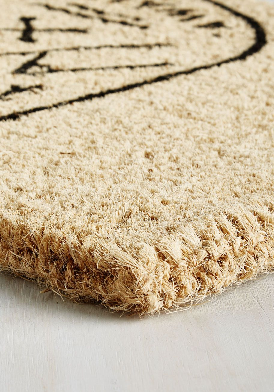 Thanks to Nature Doormat. You love the outdoors for its lush abundance, and as you return home, wiping your shoes in this coir doormat, you appreciate the lessons nature has taught you. #tan #modcloth
