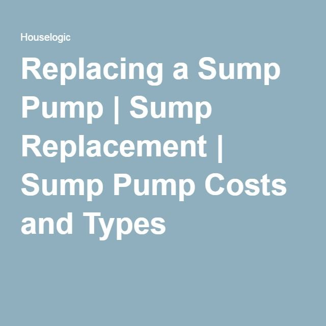 Tips For Replacing A Sump Pump