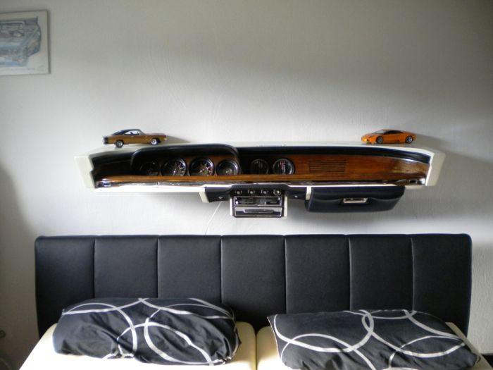 möbel aus autoteilen - regal über dem kopfbrett | ordner 1 ...