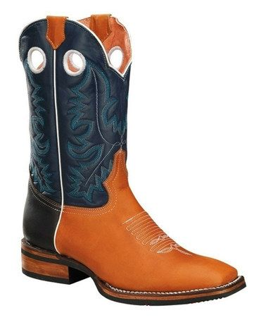 Another great find on #zulily! Mango Embroidered Pull-On Leather Cowboy Boot - Men #zulilyfinds