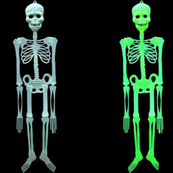 horror luminous movable skull skeleton props glow evil party favors fantasia eve scary halloween christmas decoration