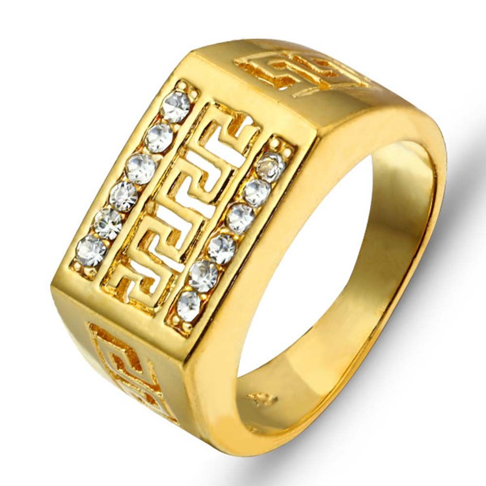 2016 18k Best Gift Gold Plated Men Jewelry Rings Ri100244 Free Shipping Party Jewelry Cubic Zirconia Man Rings Anillos Para Hombres Regalos De Oro Oro