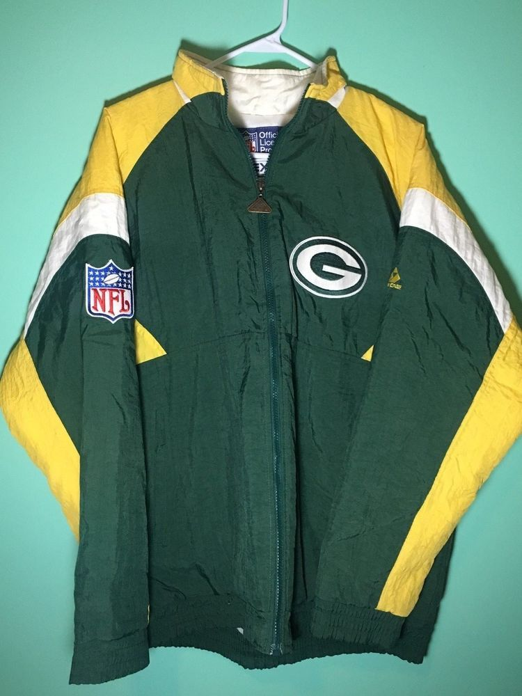 hot sale online be84b 84d03 Green Bay Packers Jacket Authentic NFL Football Logo Large ...