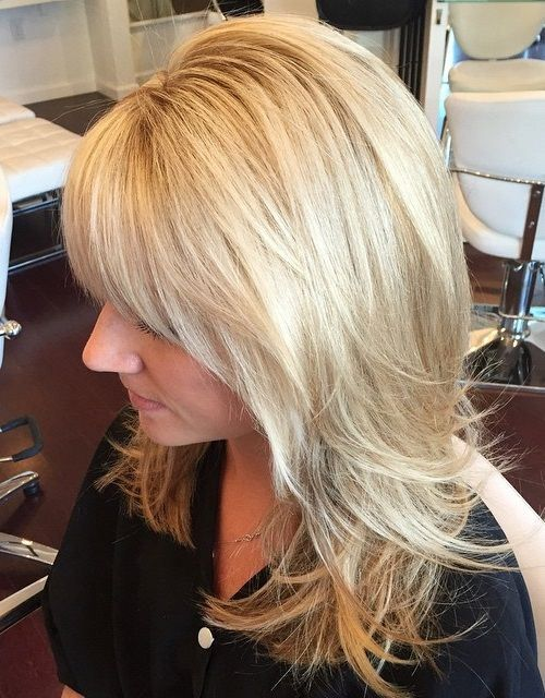 Layered Hairstyles 40 Cute And Effortless Long Layered Haircuts With Bangs  Blonde