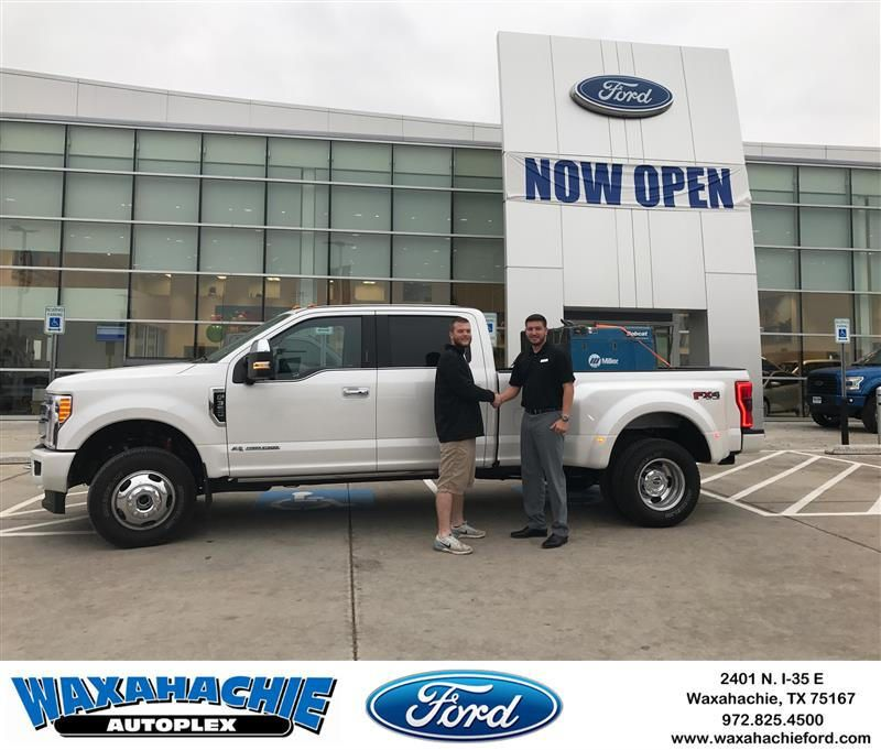 Ford Dealership Tyler Tx >> Congratulations Tyler On Your Ford Super Duty F 350 Drw