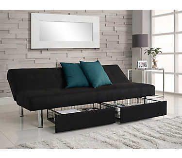 Sola Storage Sofa Futon Daybeds Bedrooms Art Van Furniture