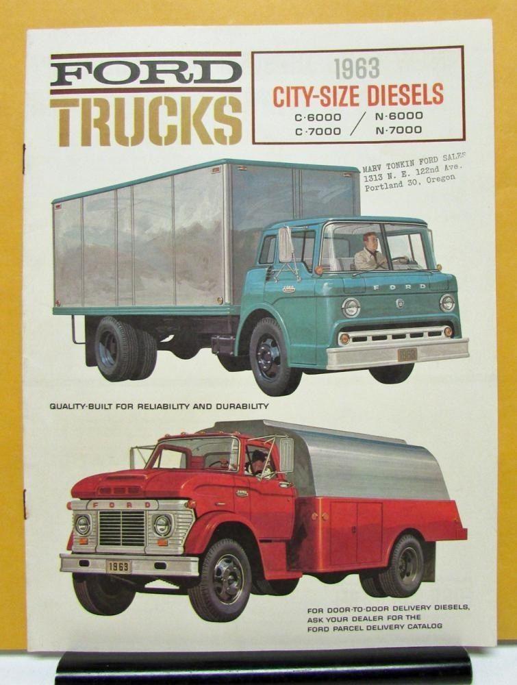 1963 Ford Truck Series C N 6000 7000 City Size Sales Brochure | eBay ...