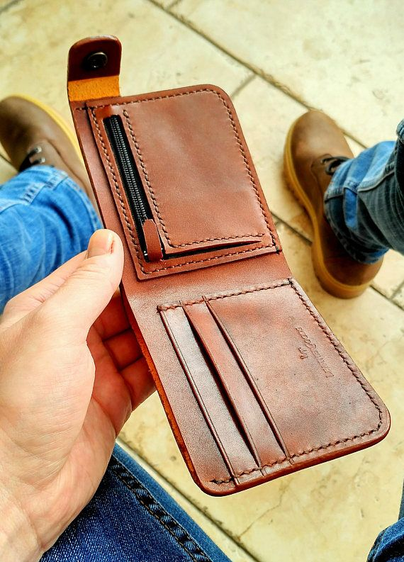 Personal leather wallet for men #leatherwallets