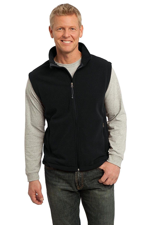 Men/'s Wool Polar Fleece Full Zip VEST Warm Winter Sleeveless Work Jacket Pullove