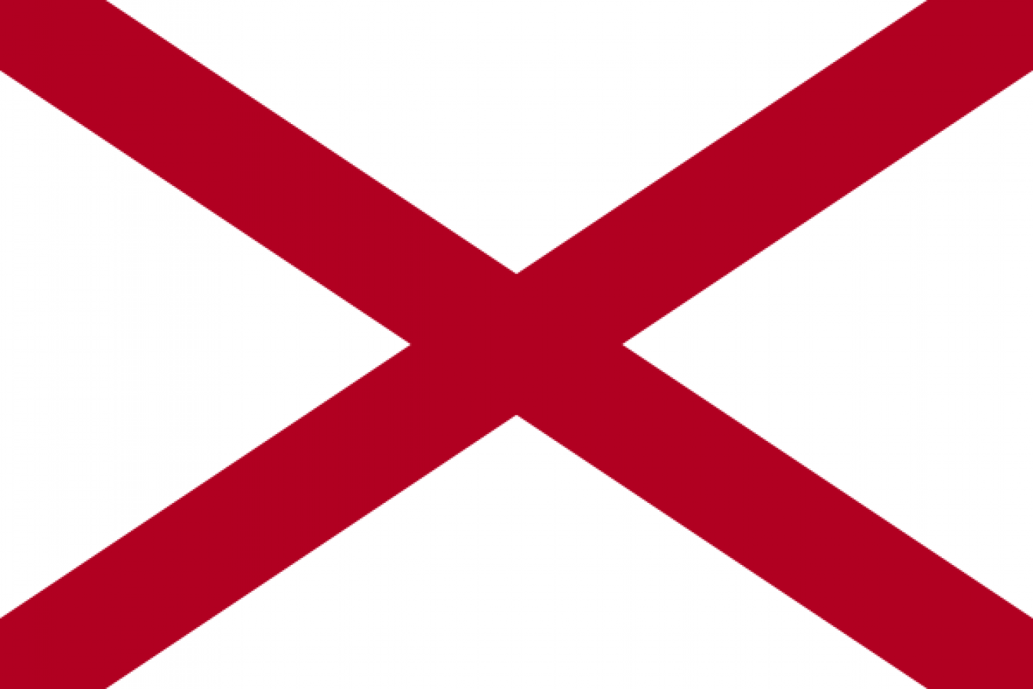 """Someone gave the state of Alabama a box to check with the question """"DO YOU WANT TO CREATE A FLAG"""" and this was the response. That or Alabama is unable to write its name and has to sign everything with a big red X. In general, it is a poor idea to pick as your flag an image that could be regarded as a negative answer to the question, """"Should you visit Alabama?"""""""
