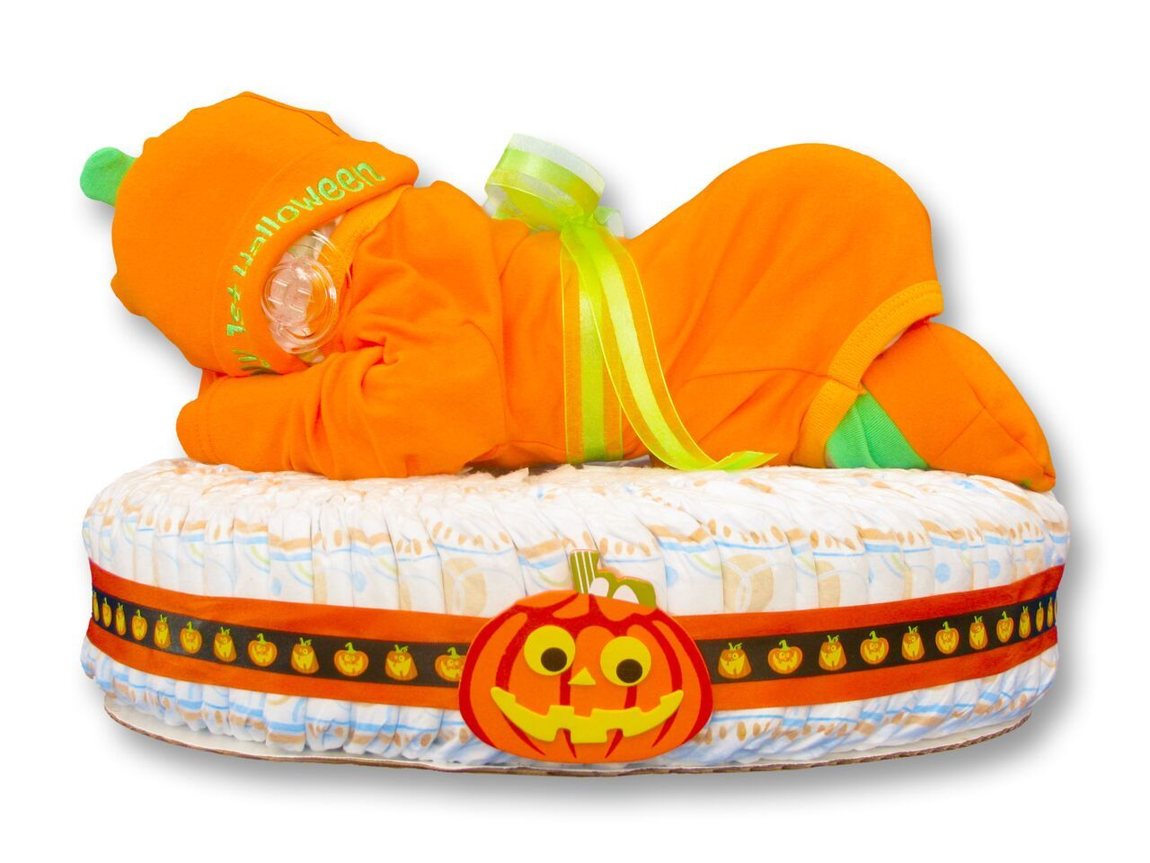 My 1st Halloween Diaper Baby Cake - Girl/Boy Perfect for a ...