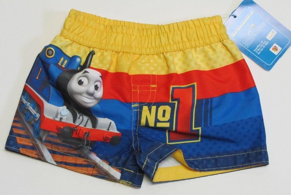 77b956693e NWT Thomas & Friends Train Baby Infant Boys Swim Suit Trunks Size 0-3  Months #ThomasFriends #SwimBottoms