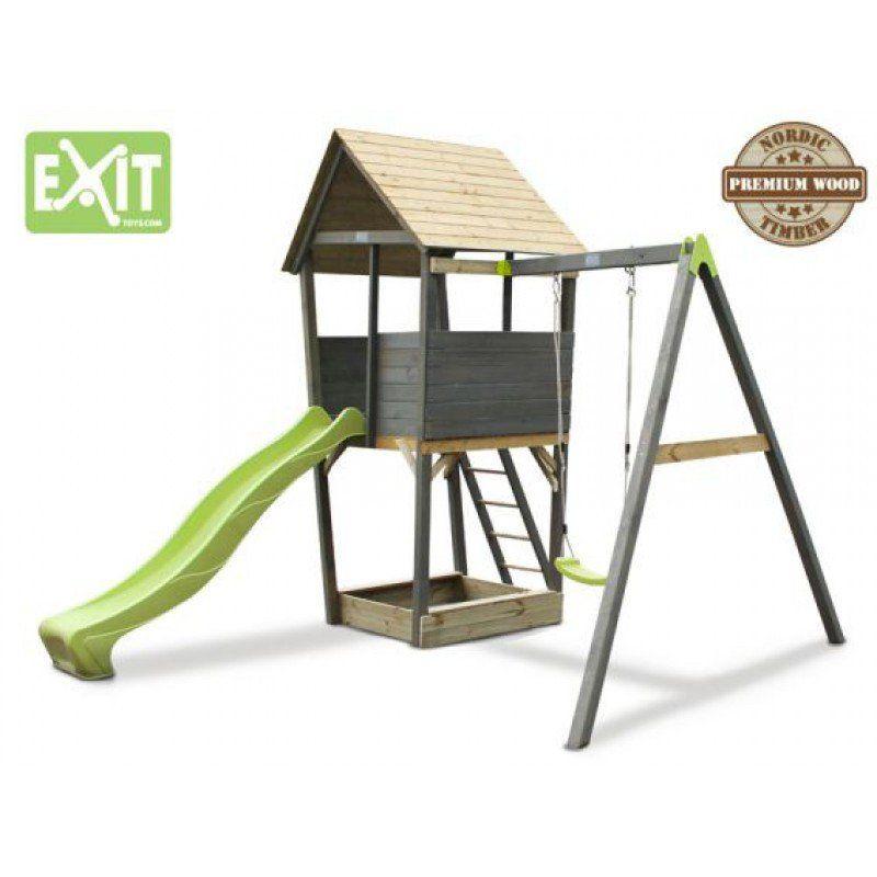 Cabane Exit Aksent Tour Balancoire Spielturm Kinder Spielturm Einzelschaukel