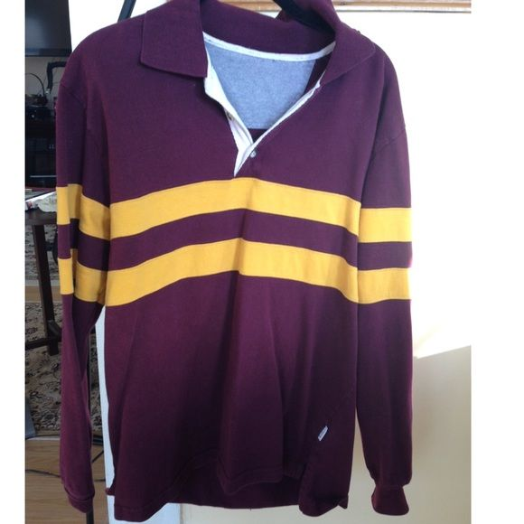 97f7ce860f5 J Crew Men's M/L Rugby Shirt Well loved and cozy rugby jersey. Maroon