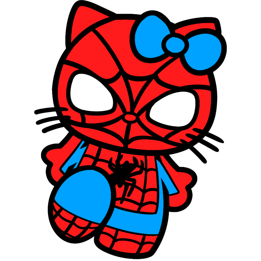 spiderman hello kitty drawing by trdaz on deviantart - Hello Kitty Drawing Pictures