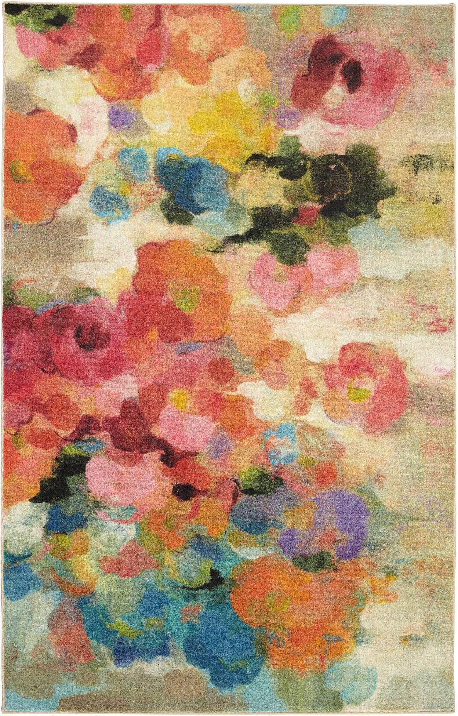 Technicolor Petunia Blossoms Multi Area Rug