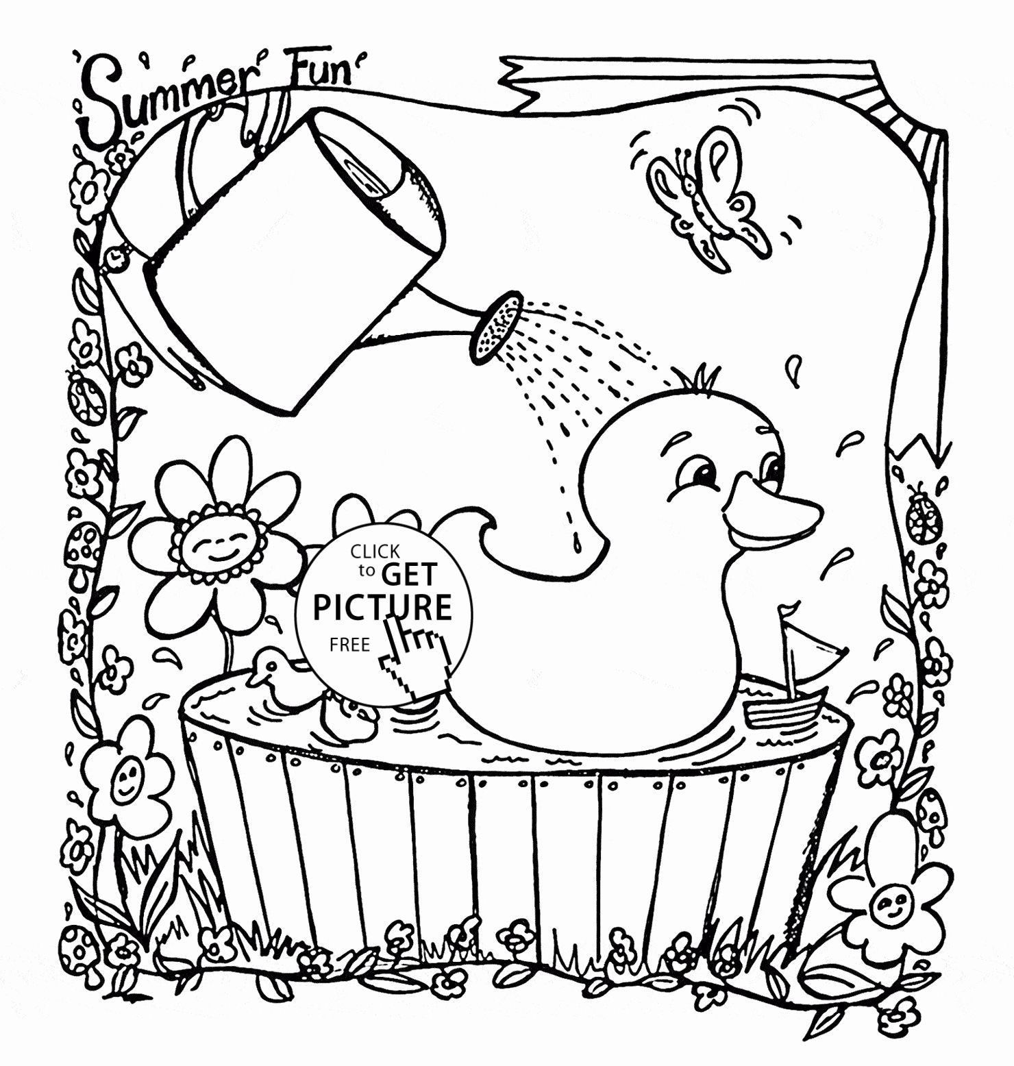 Summer Coloring Pages For Preschoolers In