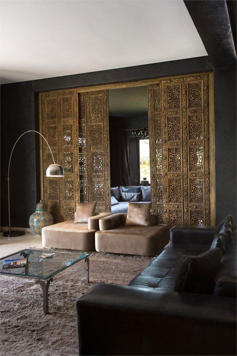Living room in Villa Z, Marrakech, Morocco