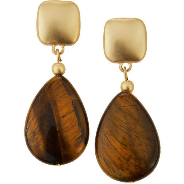 Kenneth Jay Lane Carved Amber Drop Earrings Amber nyfWmz