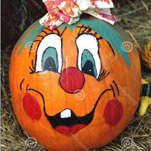 Painted Pumpkin Faces Pumpkin Face Paint Halloween Pumpkins Carvings Pumpkin Carving