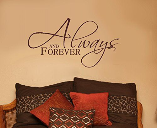 Wall Decor Plus More WDPM3128 Always and Forever Bedroom Wall Decal ...