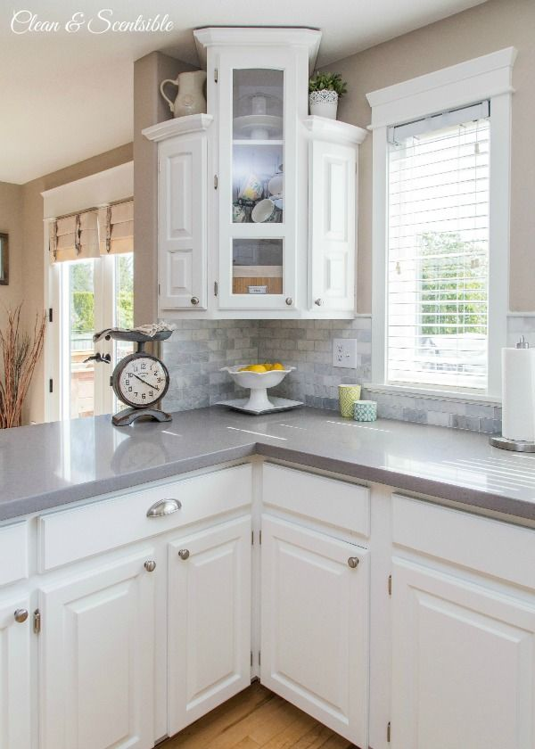 Grey Kitchen Countertops Tuscan Curtains Valances Home Decor Diy Projects Dream Pinterest White Gorgeous Low Budget Makeover You Will Not Believe The Before Or Cost Of Entire Project