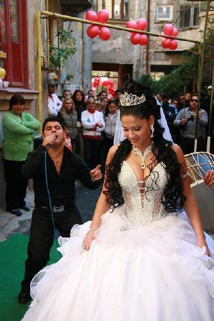 gypsy bride and famous singer of Romania