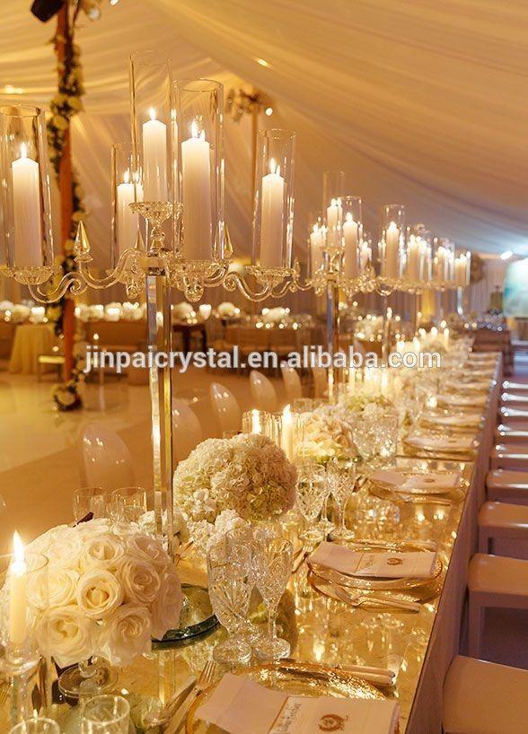 Glass crystal candelabra for wedding centerpieces with cylinder glass crystal candelabra for wedding centerpieces with cylinder hurricanes 5 arms junglespirit Choice Image