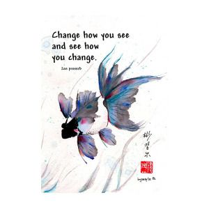 Peace in Change with Zen proverb by Bill Searle
