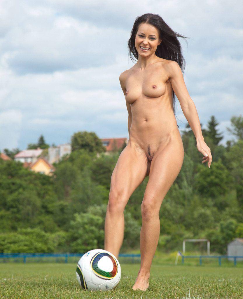 nude women on trampoline