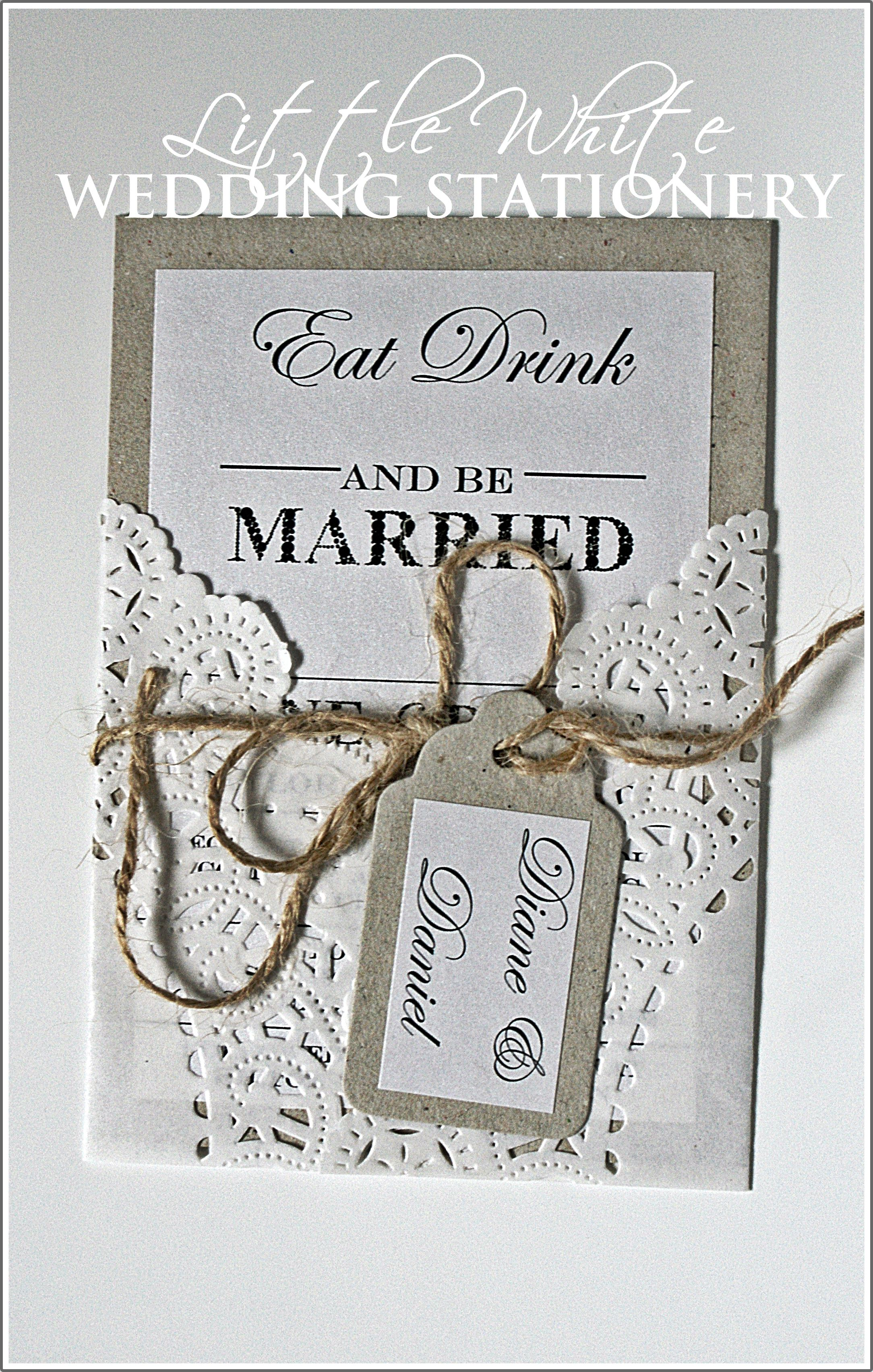 Eco Dollies Wedding Invitation lace wrapped pop over our Facebook ...