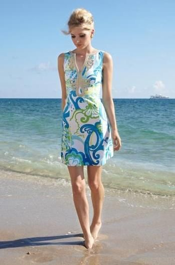 Lilly Pulitzer Janice Shift Dress in Crystal Coast