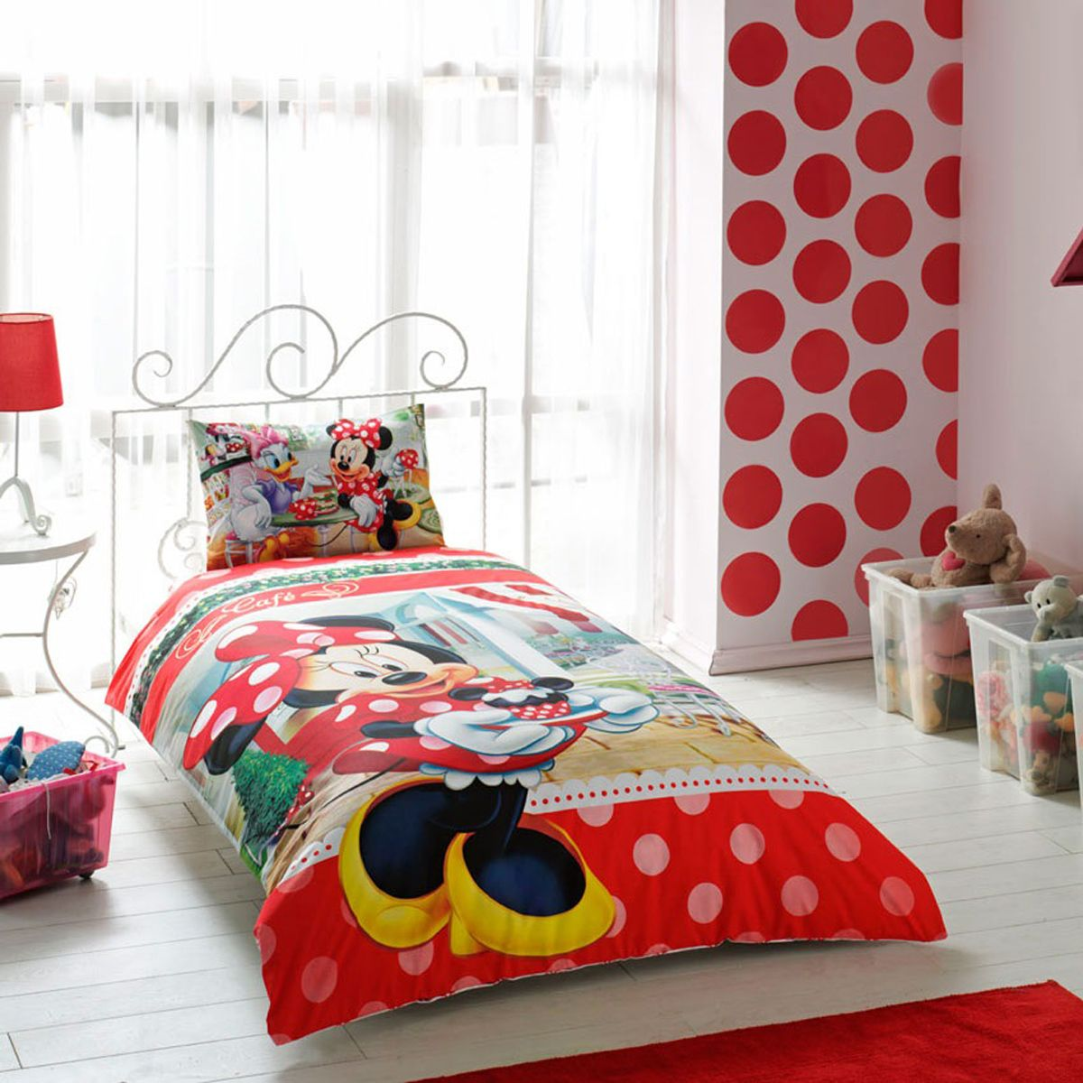 Cute Minnie Mouse Comforter Set Twin Size for Teens