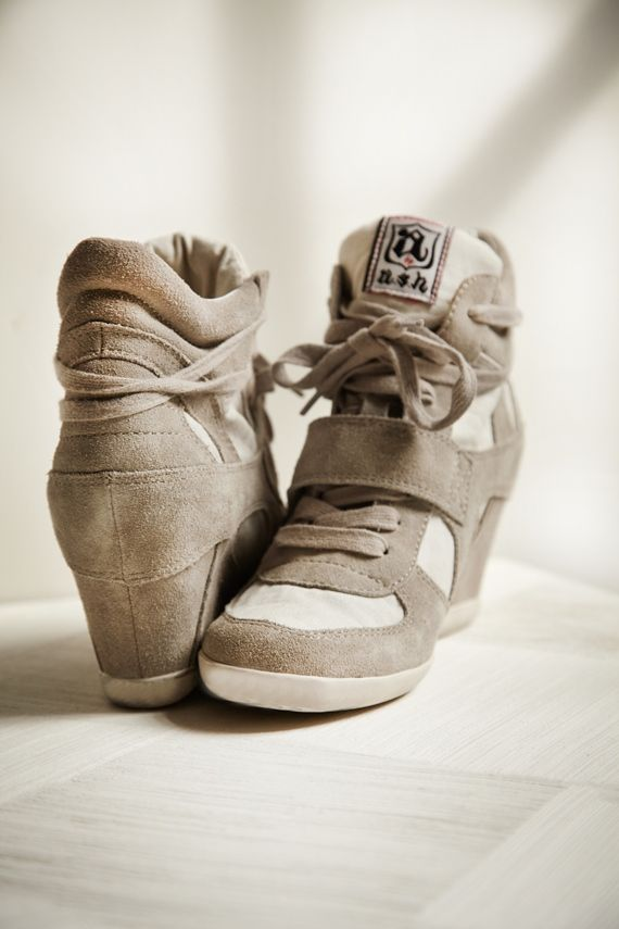 nothing like a cutie pair of sneaker wedges to kick up a notch!! hot stuff.
