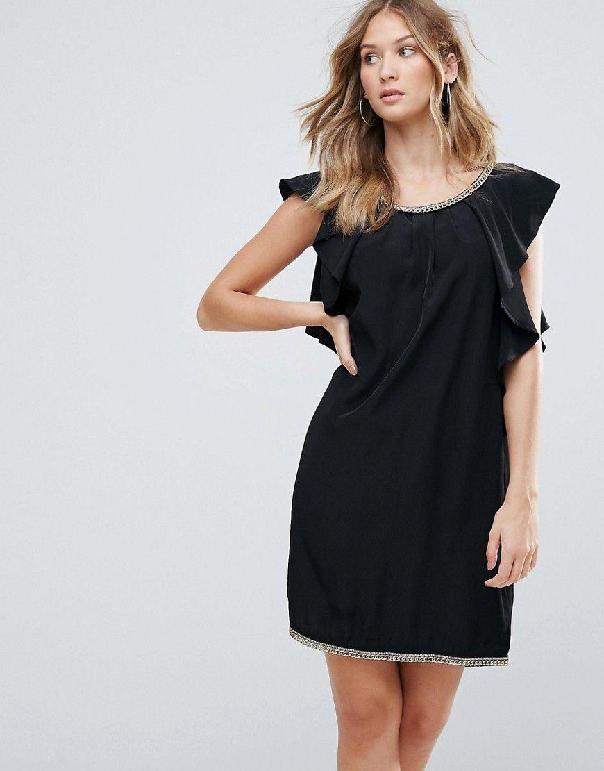 Deby Debo - Cocktail-Kleid mit gerüschten Seiten - Schwarz Jetzt bestellen  unter  https f18bc33fbb