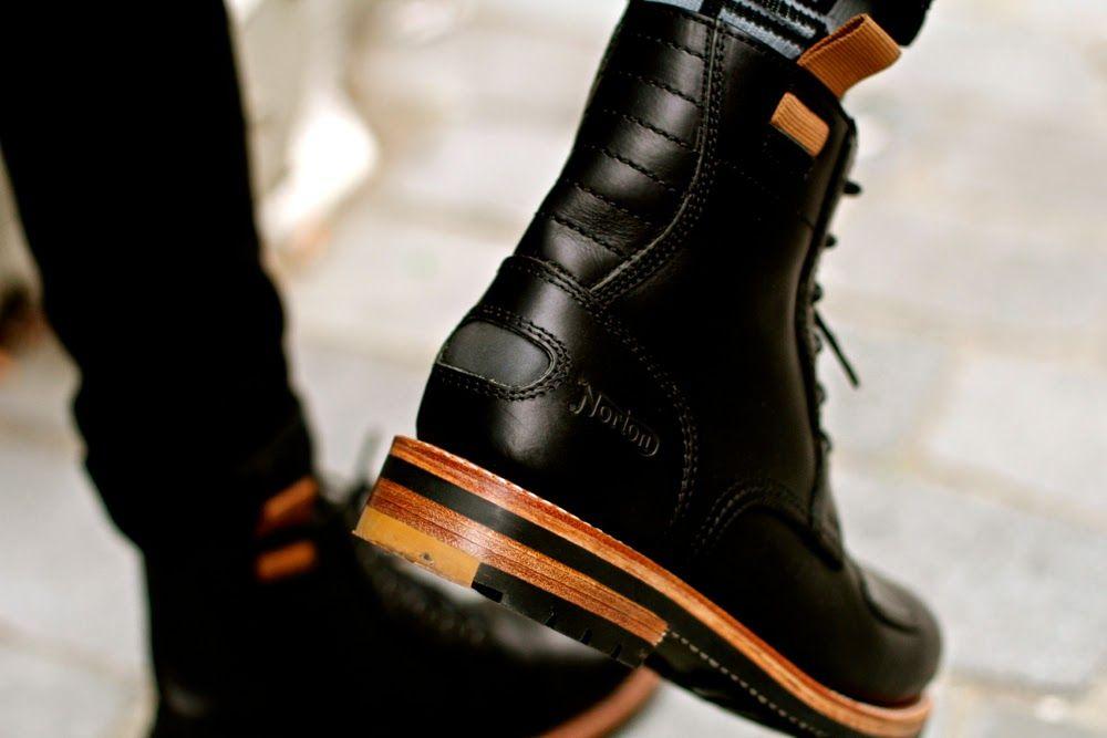 Bottes moto CLARKS x NORTON    leather boots Bottes Moto Homme, Boots Homme  Cuir 6c40edeccc55