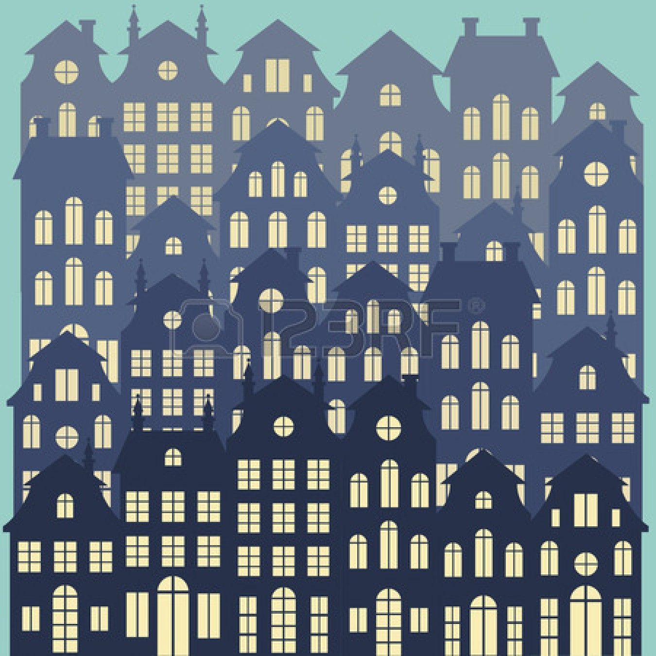 Old Holland cityscape vector background   Stock Vector