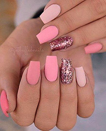Photo of 40+ Trendy Nails Pink Coffin Short