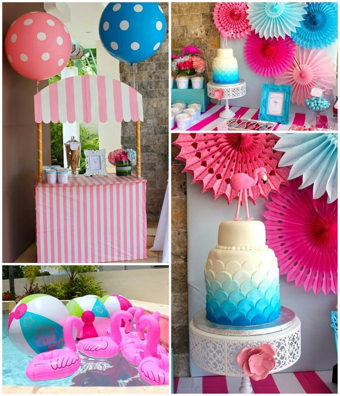Pool Party Decorations Ideas swimming pool decor for outside weddings wp eventos mexico acapulco weddings wedding ideas pinterest lakes wedding Flamingo Themed Pool Party With So Many Cute Ideas Via Karas Party Ideas