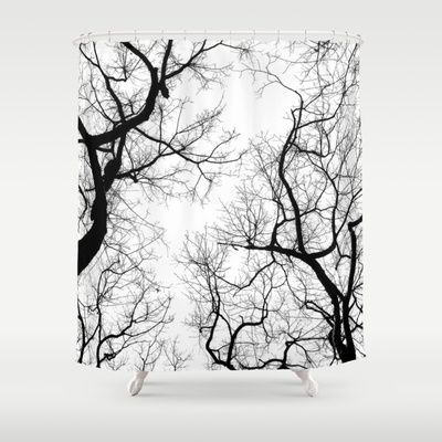 Black And White Tree Top Silhouettes