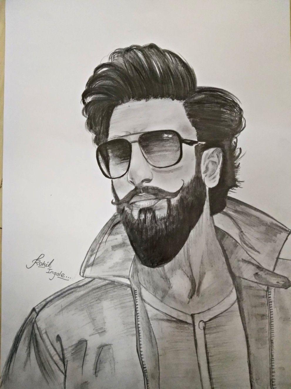 Ranveer singh sketch in 2019 celebrity drawings portrait